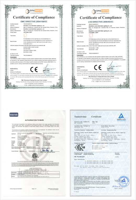 ZSIMC LED Lighting Certificate 01