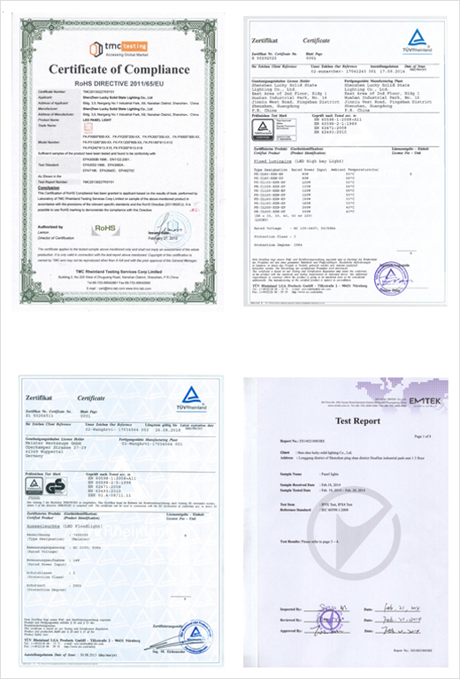 ZSIMC LED Lighting Certificate 02