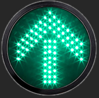 300mm 12Inch Green LED Arrow Signal