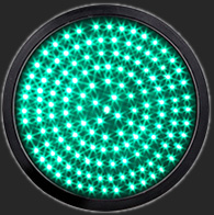 300mm 12Inch Green LED Full Ball Round Signal